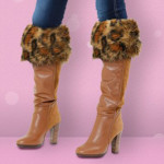 Luxycuffs - Lana Leopard Tall Boots